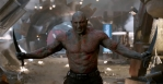 Dave Bautista fully capitalizes on the chance of a lifetime, completely embodying Drax' character